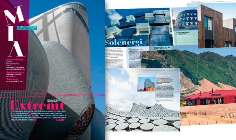 Arkitekturmagasin lyfter metallernas möjligheter