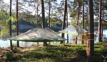 Konferera teknikfritt och sov i trädtält